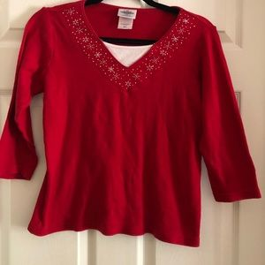 Pre-owned red blouse